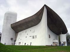 Ronchamp Cathedral, designed by Le Corbusier.