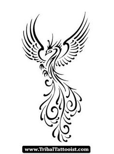 Image result for simple phoenix tattoos