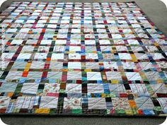 One of my goals for this month was to put to rest this sweet 'n scrappy quilt project, one which I started back in… oh dear… July 2011? Wow. I really really gotta work on turn-around times. I think what held me back on this one was the idea that I HAD to, and...Read More »