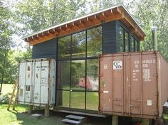 innovative small house with shipping containers