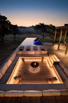 Private Bush Home – Waterberg, South Africa — Fox Browne Creative Outdoor Fireplace Designs, Fireplace Ideas, Modern Outdoor Fireplace, Luxury Homes Dream Houses, Backyard Patio Designs, My Patio Design, Modern Backyard Design, Backyard Pool Landscaping, Terrace Design