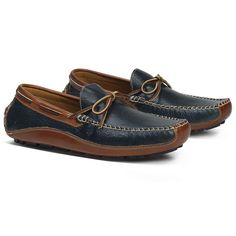 Drake Bison Loafer in Navy by Trask #$100-to-$200