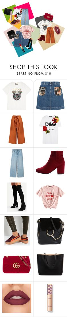 """""""There's just too much you can do..."""" by fashionqueen68 on Polyvore featuring Gucci, STELLA McCARTNEY, Boohoo, Dolce&Gabbana, Puma, Chloé and MyFaveTshirts"""
