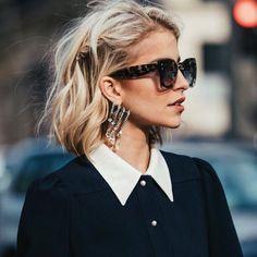 """40.8 тыс. отметок «Нравится», 468 комментариев — Caroline Daur (@carodaur) в Instagram: «Spotted in @vogueparis  """"how to wear a bob in 2017""""  #Vogue #Paris»"""