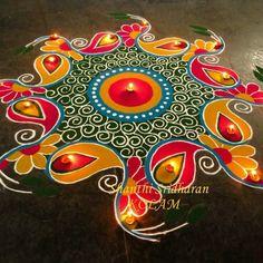Creative rangoli designs Perfect For Sprucing Diwali Indian Rangoli Designs, Rangoli Designs Latest, Simple Rangoli Designs Images, Latest Rangoli, Rangoli Designs Flower, Rangoli Patterns, Colorful Rangoli Designs, Rangoli Ideas, Beautiful Rangoli Designs