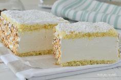 Mattonella paradiso Cupcakes, Cake Cookies, Square Cakes, Italian Desserts, Gelato, Vanilla Cake, Mousse, Cheesecake, Dessert Recipes