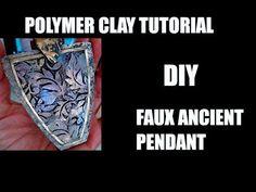 375 - DIY antique pendant - polymer clay tutorial