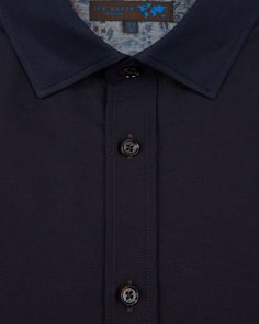 Deluxe jacquard shirt - Dark Red | Shirts | Ted Baker