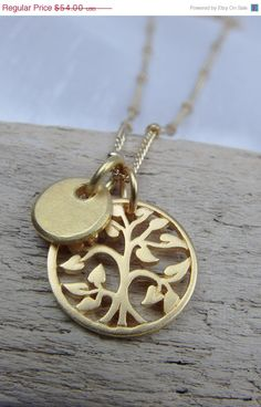 MOTHERS DAY SALE Gold Tree of Life Charm by AlisonStorryJewelry, $47.52