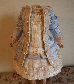 Silk Doll Dress for Your French Doll Jumeau Steiner and Other Antique Dolls | eBay