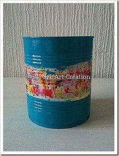 pot décoré et peint By SyL'Art