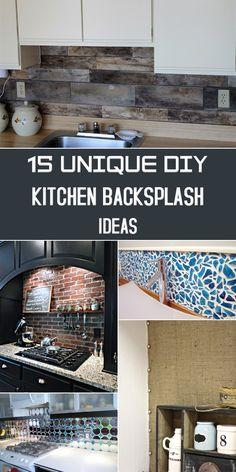 Here's a bunch of various ideas for updating the kitchen backsplash wall that will fit many tastes and styles.