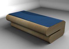 Nábytek do studentského pokoje (klauzurní zkouška 2013) - postel z ohýbané překližky