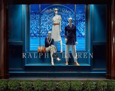 "RALPH LAUREN, New Bond Street, London, ""Spectator style: Collection Spring for The Wimbledon Tennis Open"", pinned by Ton van der Veer"