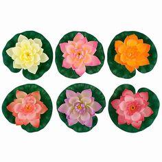 Floating Lotus Flowers