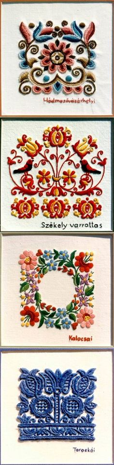 Discover thousands of images about Kalocsa lace (Richelieu) small tablecloth with authentic Hungarian embroidery patterns - (Id: Hungarian Embroidery, Learn Embroidery, Crewel Embroidery, Ribbon Embroidery, Cross Stitch Embroidery, Embroidery Patterns, Art Textile, Embroidery Techniques, Fabric Art