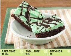 Easy AND delicious green brownies!