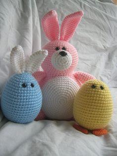Bella the Bunny  Amigurumi Plush Crochet PATTERN by daveydreamer, $4.00
