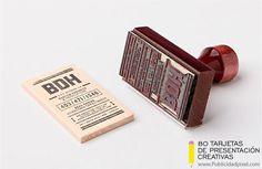 tarjetas de presentacion sello