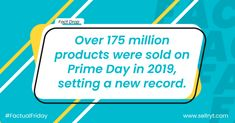 Will Prime Day 2020 surpass this sales record?   #factualfriday #factoftheday #facts #amazonprimeday #amazonprimeday2020 #amazonprimedaydeals #amazonsellers #amazon #amazonfba #amazondeals #ecommercemarketing #ecommerce #primeday Customer Experience, Customer Service, Amazon Prime Day Deals, Fact Of The Day, Virtual Assistant Services, Growing Your Business, Workplace, Flexibility, Digital Marketing