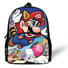 12-inch Little Boys Bag Kids School Backpacks Super Mario Bag Children Girl Kindergarten  Cartoon Mochilas Escolares Infantis f7a2a2d5140ad