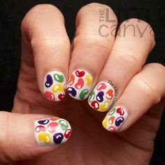 Jellybean Easter candy nails for spring