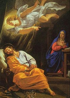 Fourth Sunday of Advent | The Dream of Saint Joseph. | Vierde Zondag van de Advent | De droom van Sint-Jozef. | Photo Public Domain.