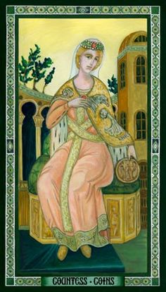 Countess of Coins - Byzantine Tarot