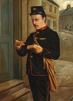 'Portrait of a Postman (Alex Buchanan)'1900-1912