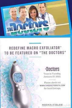 http://fatdiminisher.digimkts.com   This is just what I was looking for.    Our Rodan + Fields Macro E making another television appearance! Remove 5 million dead skin cells in 5 minutes. Exfoliate to reveal glowing skin!