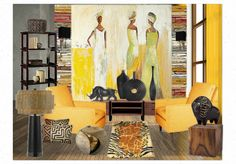 My yellow Africa by Create your own interior design moodboard now! Create Your Own, Africa, Interior Design, Yellow, Painting, Art, Design Interiors, Home Interior Design, Interior Architecture