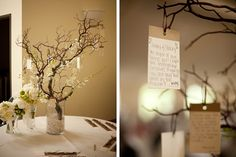 3. New Years Resolution Tree  Keep your guests busy with an interactive new years resolution tree. Use the same aesthetic as a wishing tree but have your friends and family write down their vows for next and hang them on a tree with ribbon.    @sarah i need this at my wedding