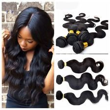 3 Bundles Brazilian Human Remy Hair Extensions Unprocessed weft Body Wave weave $38.85