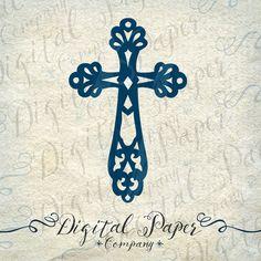 Inpirational Cruz bautismo comunión fe PNG SVG DXF archivo descarga inmediata Cricut silueta de corte Cameo Digital vinilo corte Clip Art