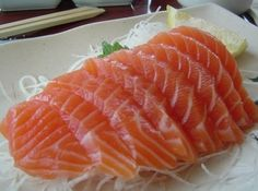 Amoooooooooo Sashimi de salmão
