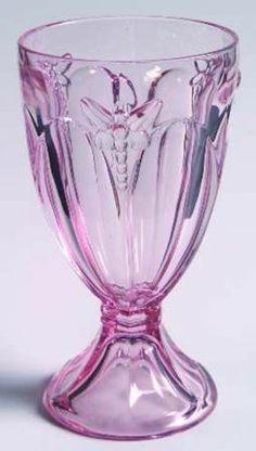 Butterfly Meadow Pink Pattern Lenox Crystal ALL Purpose Wine Glass Dragonfly | eBay