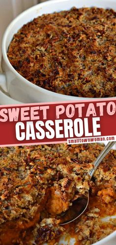 Sweet Potato Casserole is a magnificent addition to your Thanksgiving menu! No need to have a trial run for this foolproof fall recipe that makes 12 servings. Baked with a scrumptious, crunchy brown sugar topping, it is the perfect holiday side dish! Pin this for later!