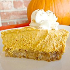 """""""This is a wonderful light whipped pumpkin pie. My husband doesn't like traditional pumpkin pie but loves this recipe I came up with. The cream cheese adds a wonderful flavor with a traditional pie taste Pumpkin Pie Recipe Allrecipes, Pumpkin Pie Recipes, Pumpkin Pies, Pumpkin Dessert, Pie Dessert, Dessert Recipes, Yummy Recipes, Bakery Recipes, Pumpkin Cheesecake"""
