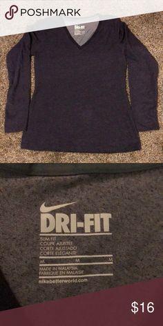 Long sleeve shirt Nike dri fit, long sleeve shirt. Color is a dark purple. Nike Tops Tees - Long Sleeve
