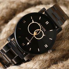 c1dd04384cbc KEVIN Fashion Men s Watch Casual Relogios Masculinos Full Stainless Steel  Analog Quartz Women Wristwatch Gift Female
