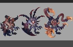 Chaos Spawn variants by Rayph.deviantart.com on @deviantART