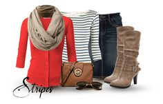 """""""Stripes"""" by modestlyme ❤ liked on Polyvore"""