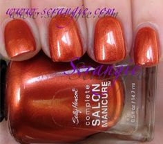 Sally Hansen Complete Salon Manicure for Tracy Reese: Shinny Penny - fall 2011