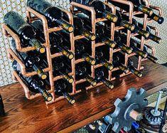 24 Bottle Copper Wine Rack