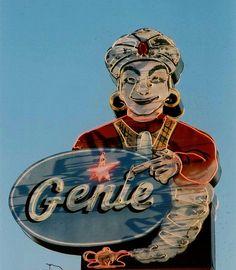 Genie neon sign