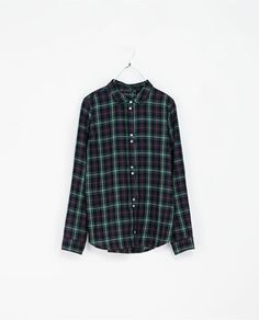 Image 6 of ROUND NECK CHECKED SHIRT from Zara