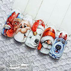 Red Christmas Nails, Xmas Nails, Winter Christmas, Merry Christmas, Christmas Nail Art Designs, Winter Nail Designs, Garra, Color For Nails, Animal Nail Art