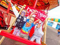 Giant Deckchair at The Pleasure Beach, Great Yarmouth with Heart FM. [Photography by Kayleigh Poacher]