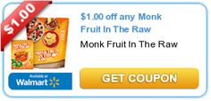 $1.00 off any Monk Fruit In The Raw