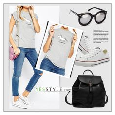 """YESSTYLE.com"" by monmondefou ❤ liked on Polyvore featuring Converse, Princess Carousel, Obel and H&M"